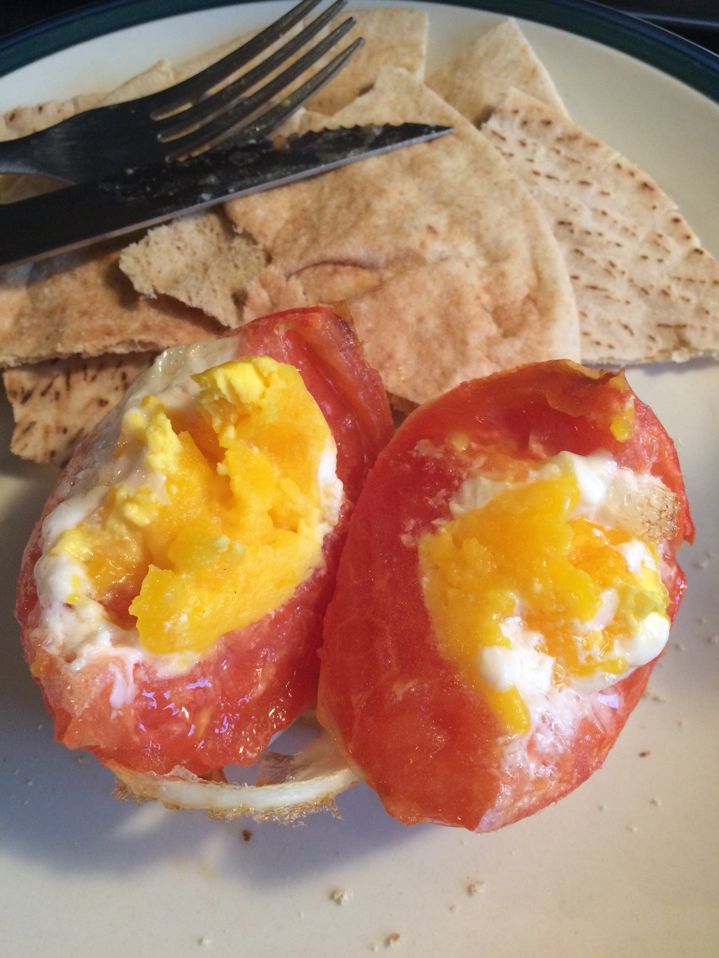 Recipe: egg stuffed tomato