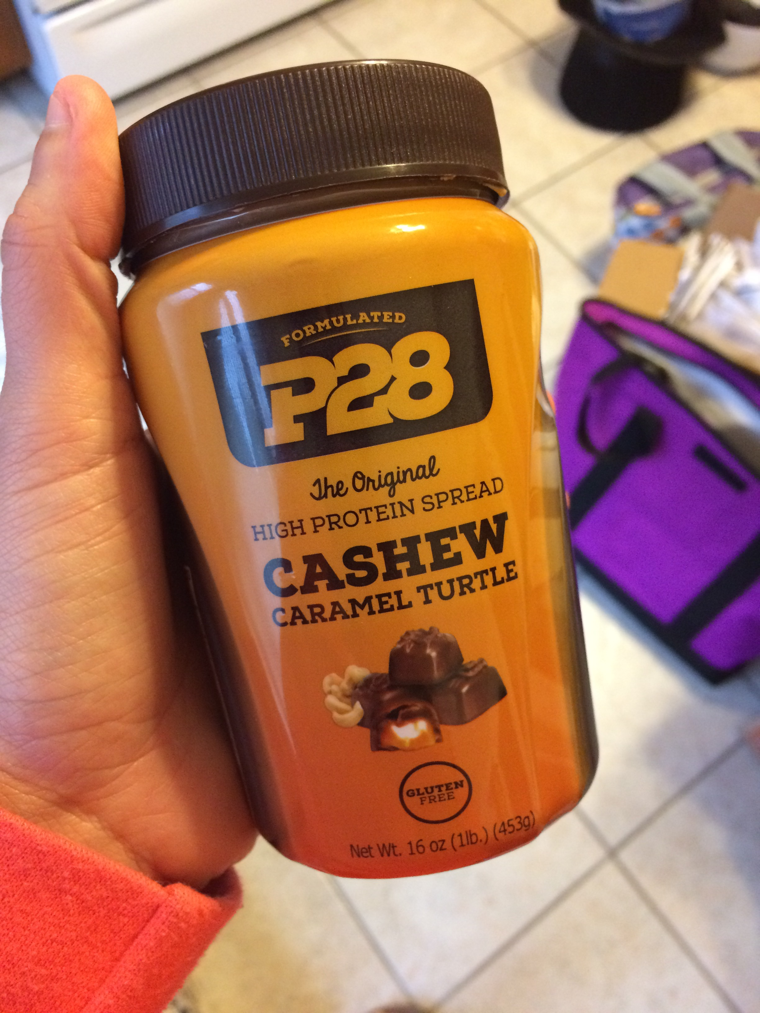 Found: P28 Cashew Caramel Turtle High Protein Spread