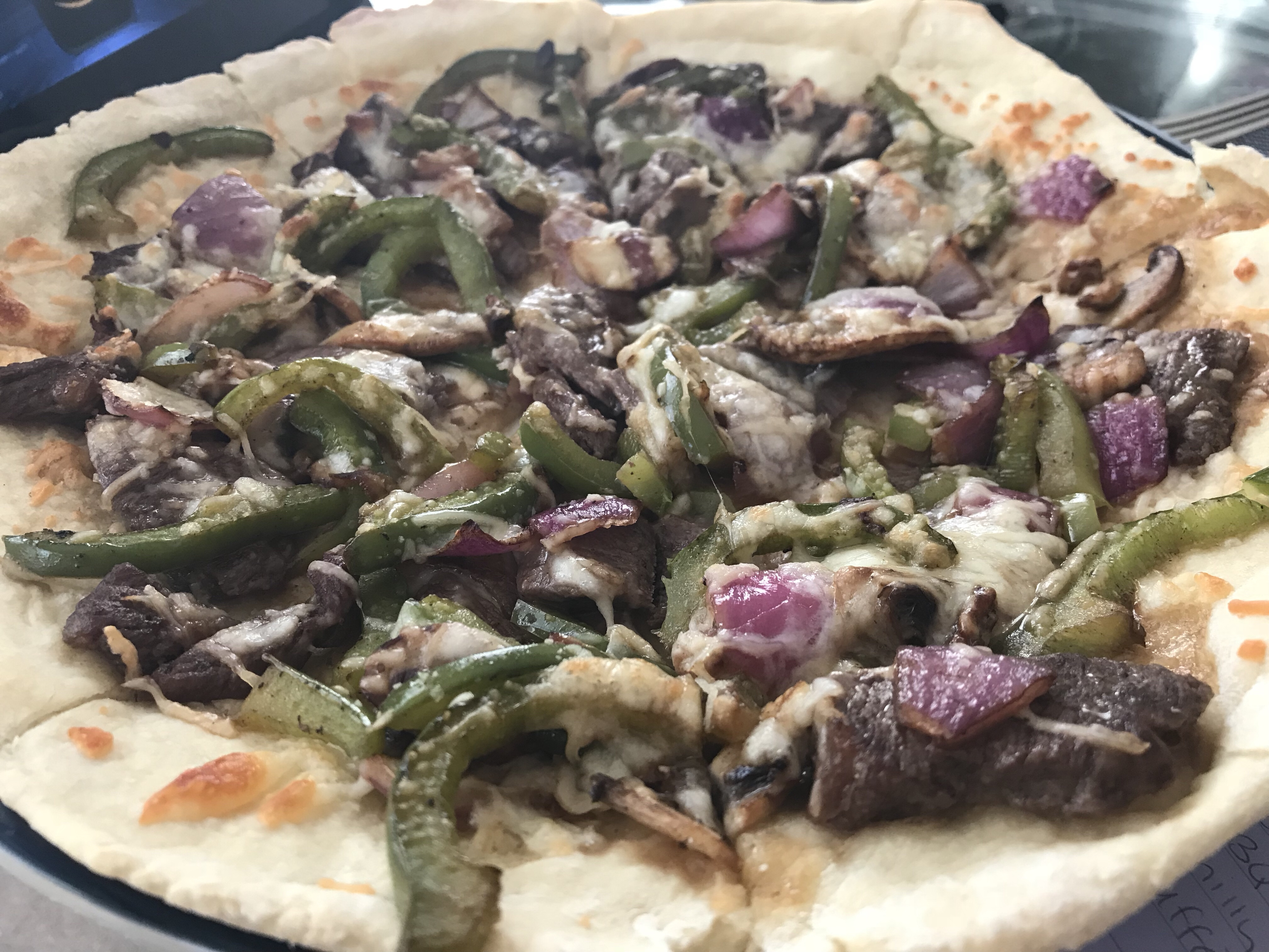 Recipe: Classic and Thin Crust with Philly Cheesesteak Pizza
