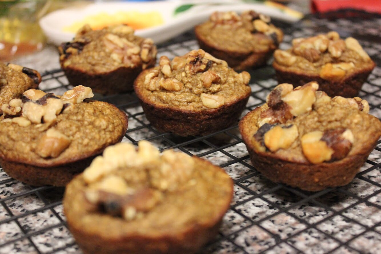 Recipe: Flourless Banana Muffins (gluten-free, oil-free)
